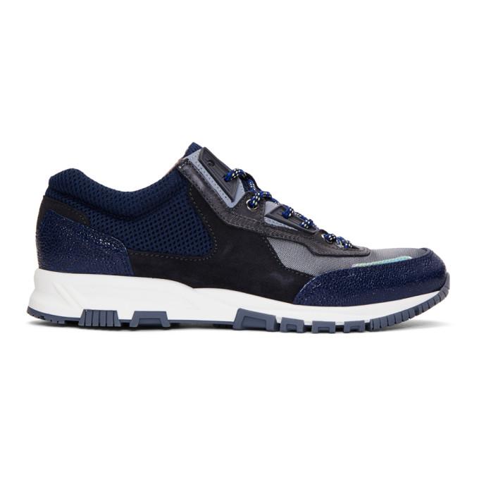 Lanvin Grey & Blue Running Sneakers