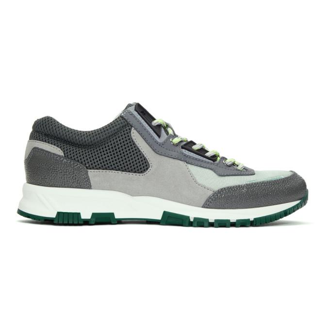 Lanvin Grey & Green Running Sneakers