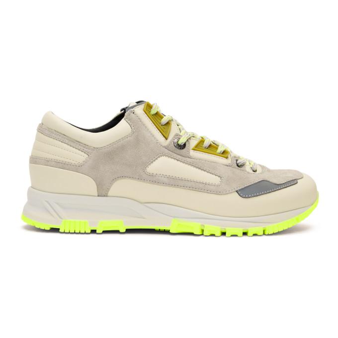 Lanvin Beige & Green Neon Sneakers