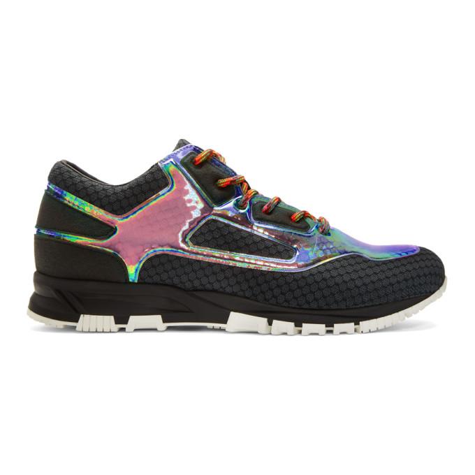 Lanvin Black Iridescent Sneakers