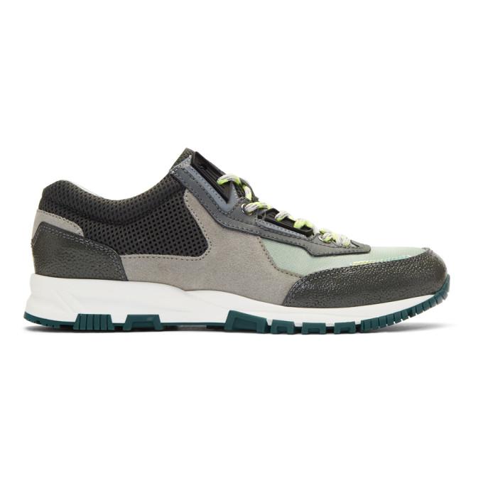 Lanvin Green & Grey Sport Sneakers