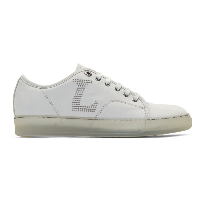 Lanvin Off-White Perforated Sneakers