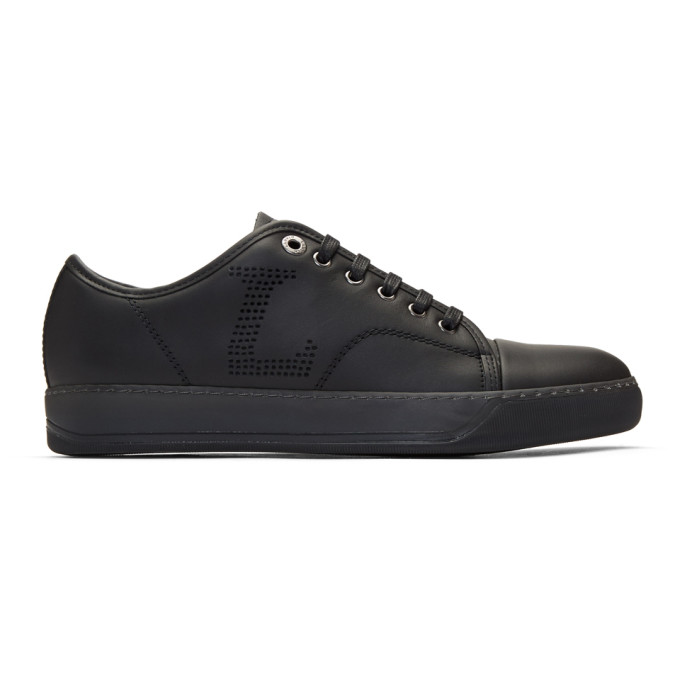 Lanvin Black Perforated Basket Sneakers