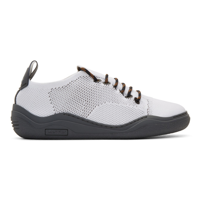 Lanvin White Knit Diving Sneakers