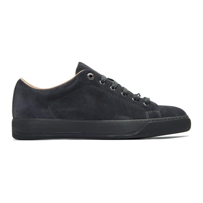 Lanvin Grey Suede Sneakers