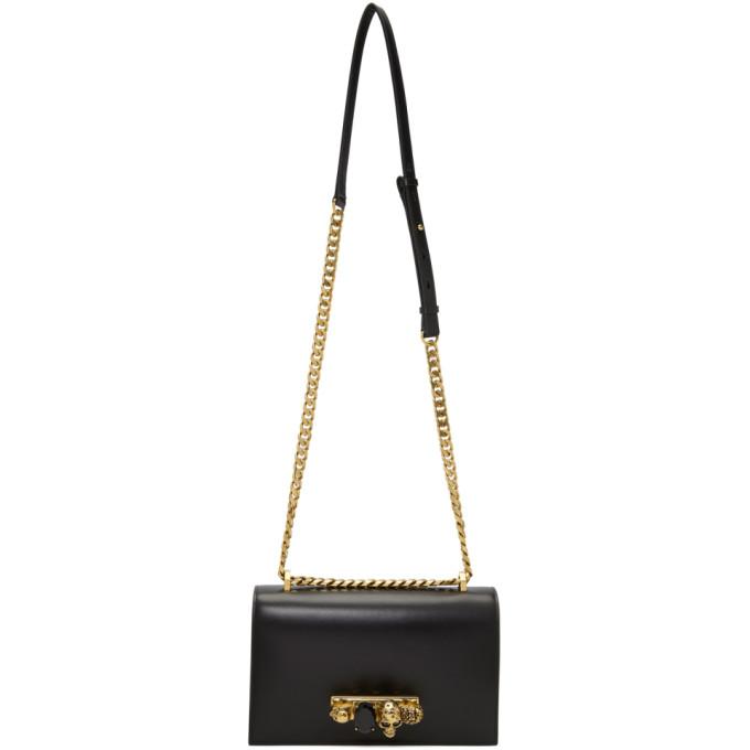 Alexander McQueen Black & Gold Knuckle Chain Bag