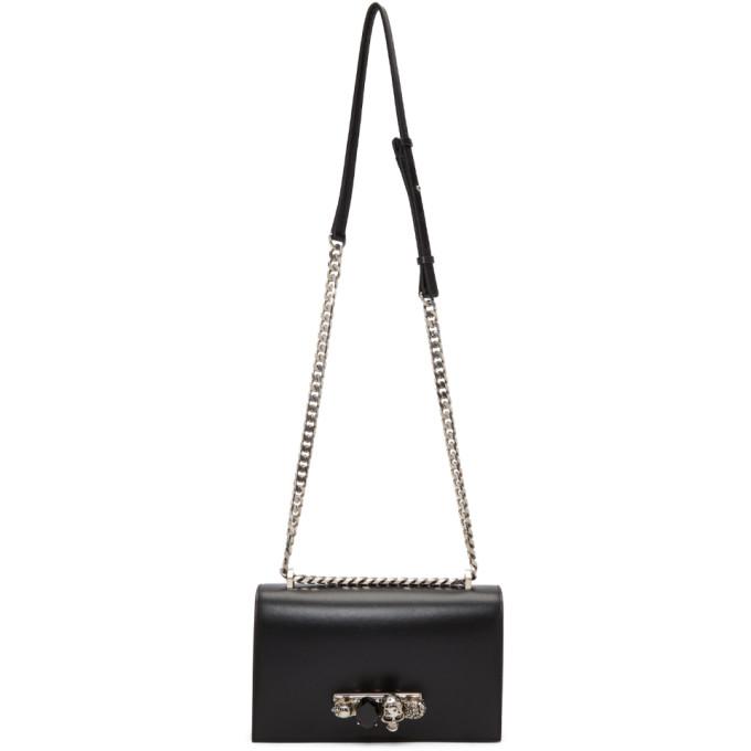 Alexander McQueen Black & Silver Knuckle Chain Bag