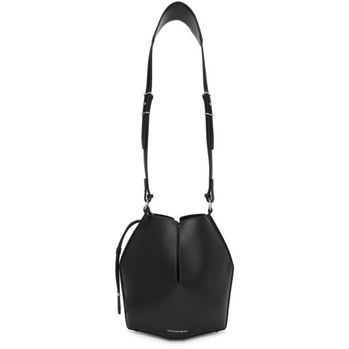 Alexander McQueen Black Bucket Shoulder Bag