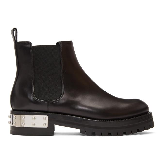 Alexander McQueen Black Chelsea Boots