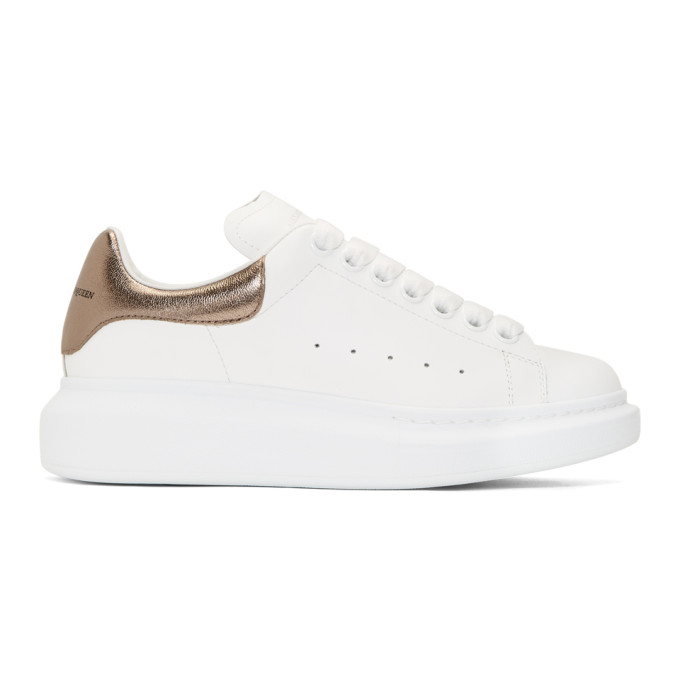 Alexander McQueen White Metallic Oversized Sneakers