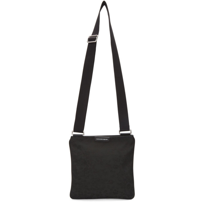 Alexander McQueen Black Skulls Messenger Bag