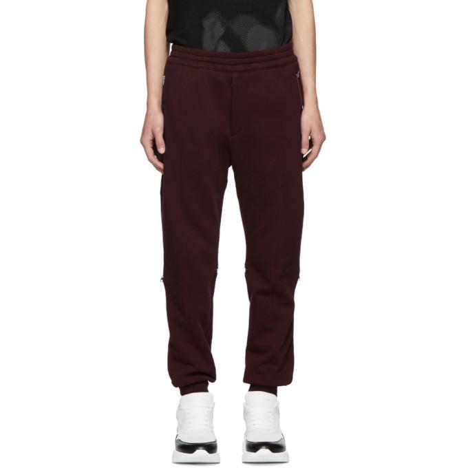 Alexander McQueen Pantalon de survetement rouge Jogger