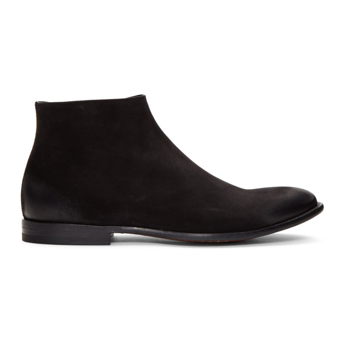 Alexander McQueen Black Suede Dream Zip Boots