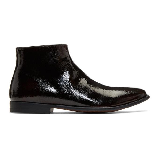 Alexander McQueen Brown Zermatt Zip Boots