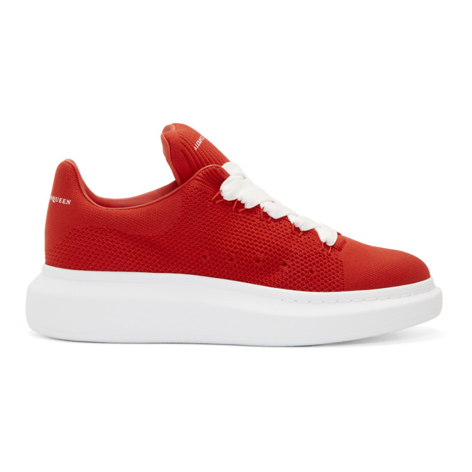 Alexander McQueen Red New Knit Sneakers