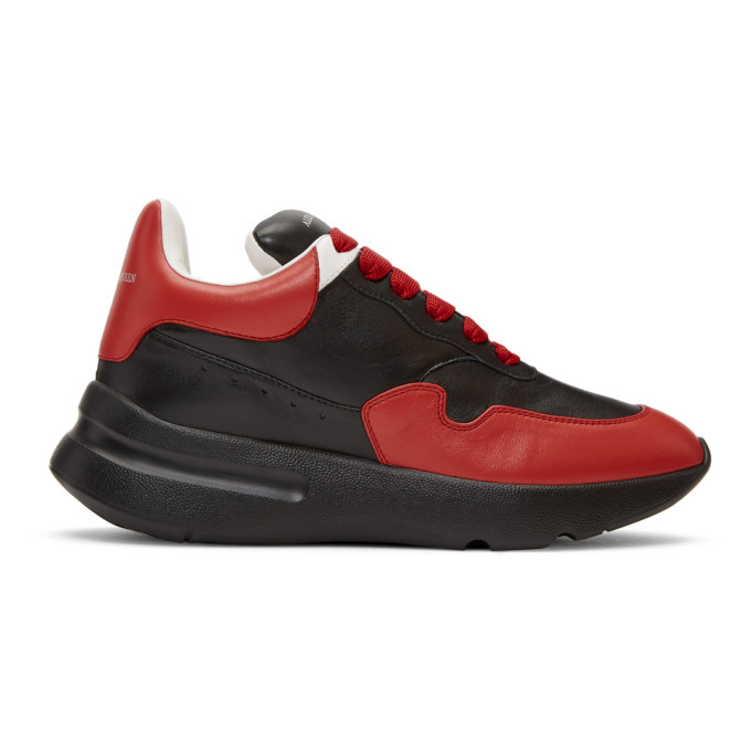 Alexander McQueen Black & Red Runner Sneakers