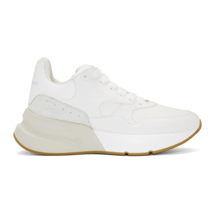 Alexander McQueen White & Beige Joey Sneakers
