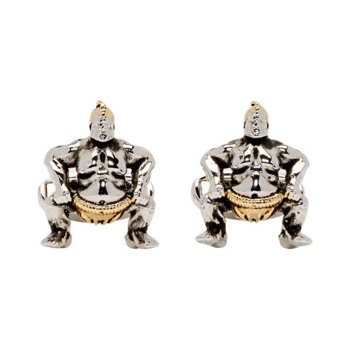 Paul Smith Silver & Copper Sumo Wrestler Cufflinks