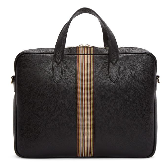 Paul Smith Black Multistripe Portfolio Briefcase
