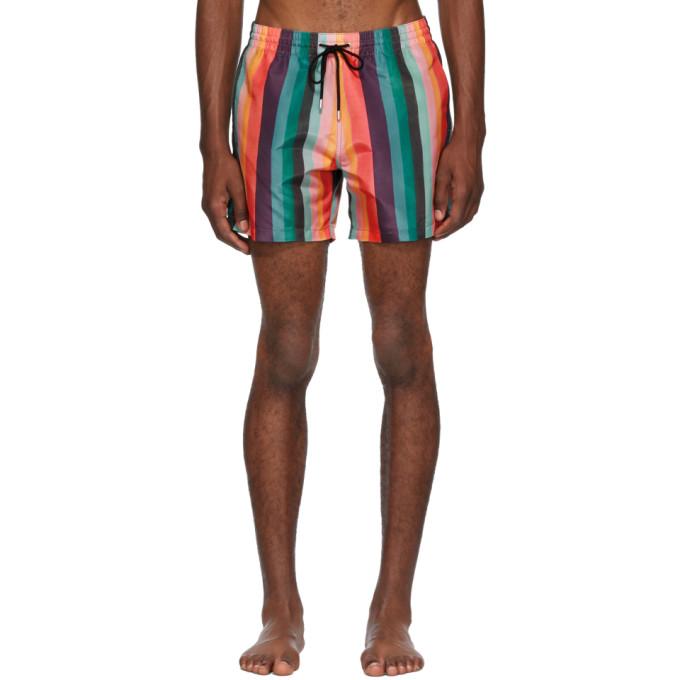 Paul Smith Maillot de bain multicolore Artist Stripe