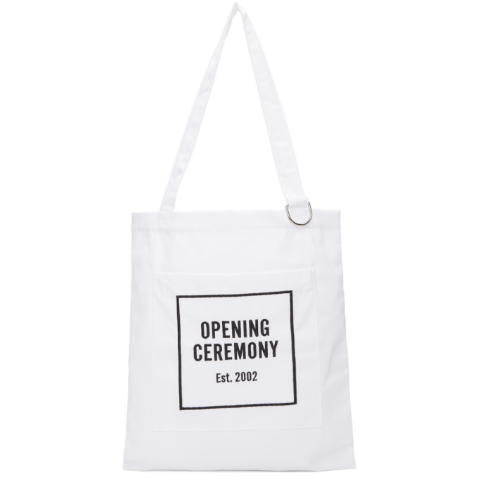 Opening Ceremony White Classic Logo Tote