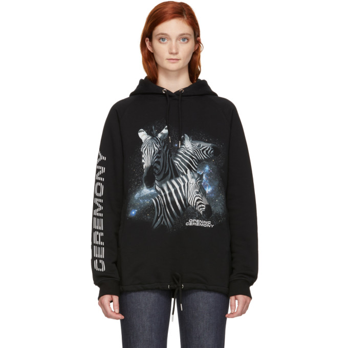 Image of Opening Ceremony Black Cosmic Zebra Hoodie