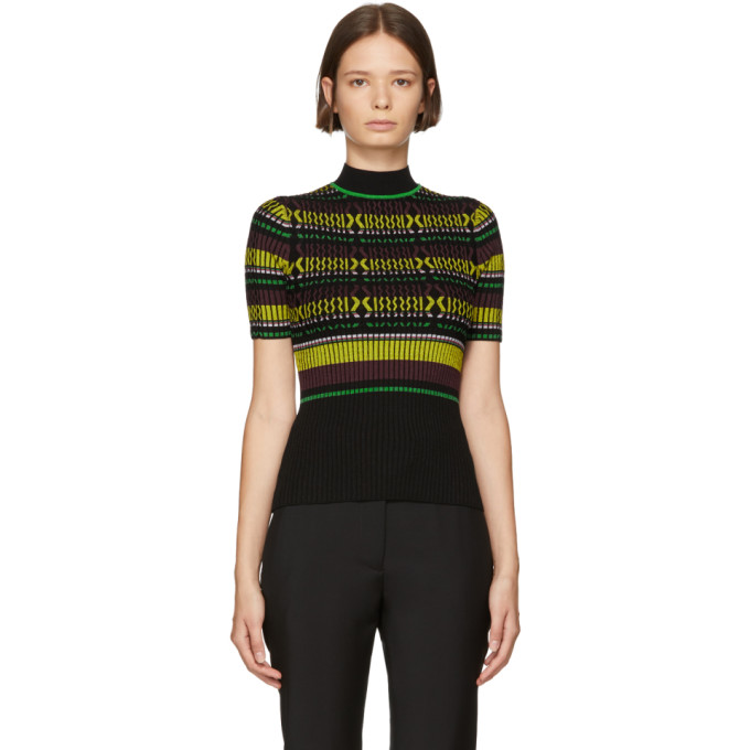 Opening Ceremony OPENING CEREMONY BLACK STRIPED KNIT T-SHIRT