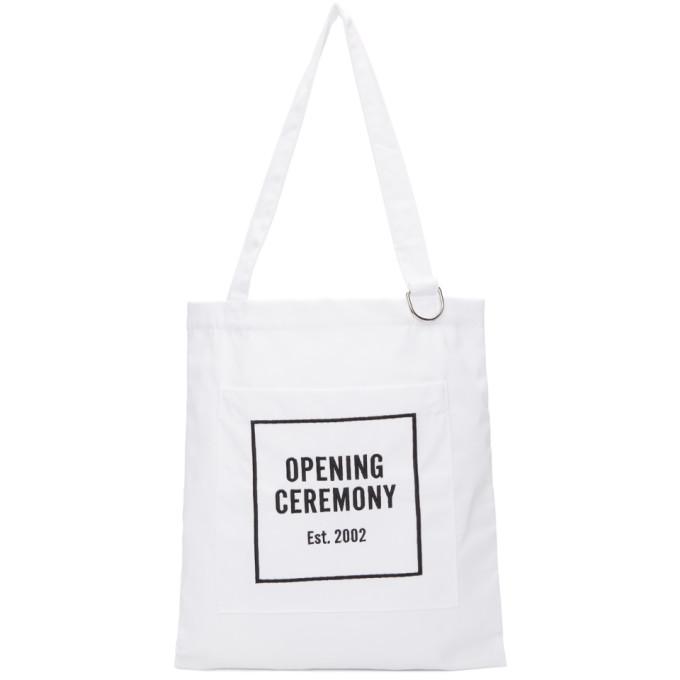 Opening Ceremony ホワイト クラシック ロゴ トート