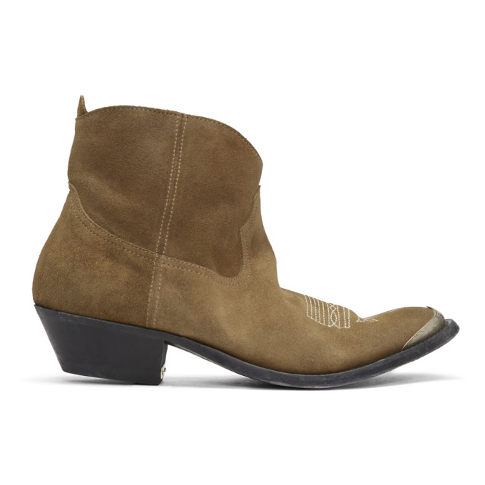 Golden Goose Brown Suede Young Boots
