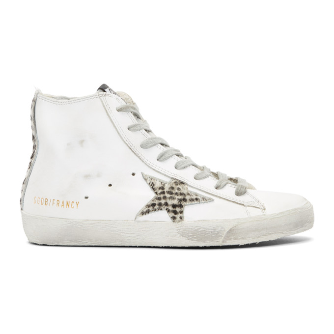 Golden Goose White Fancy Pony Star Sneakers