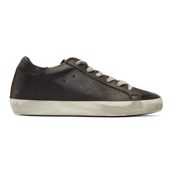 Golden Goose Black Perforated Superstar Sneakers