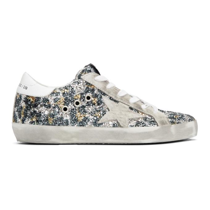 Golden Goose Multicolor Glitter Superstar Sneakers