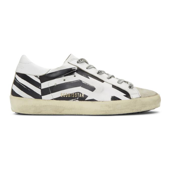 Golden Goose White Flag Superstar Sneakers