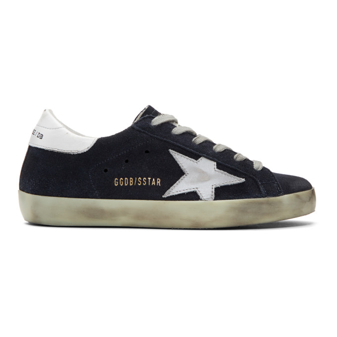 Golden Goose SSENSE Exclusive Navy Superstar Sneakers
