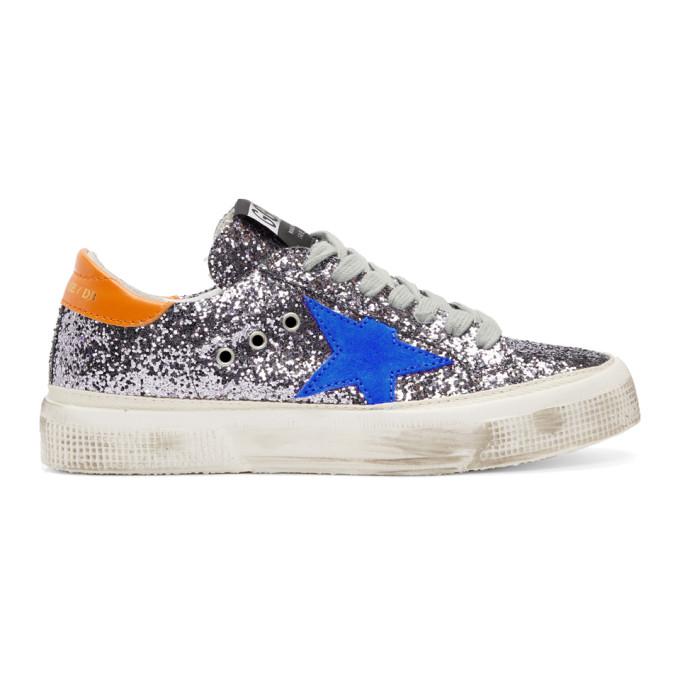 Golden Goose Grey Glitter May Sneakers