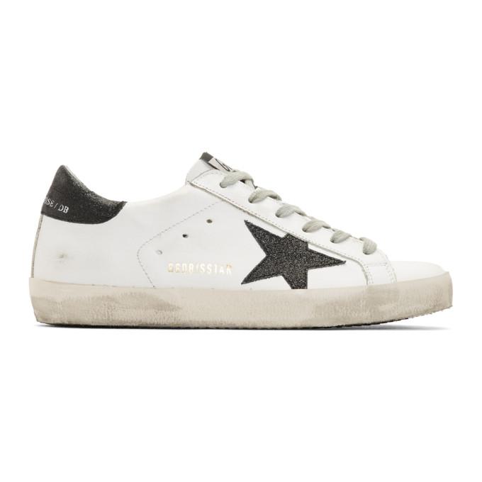 Golden Goose White Metallic Star Superstar Sneaker