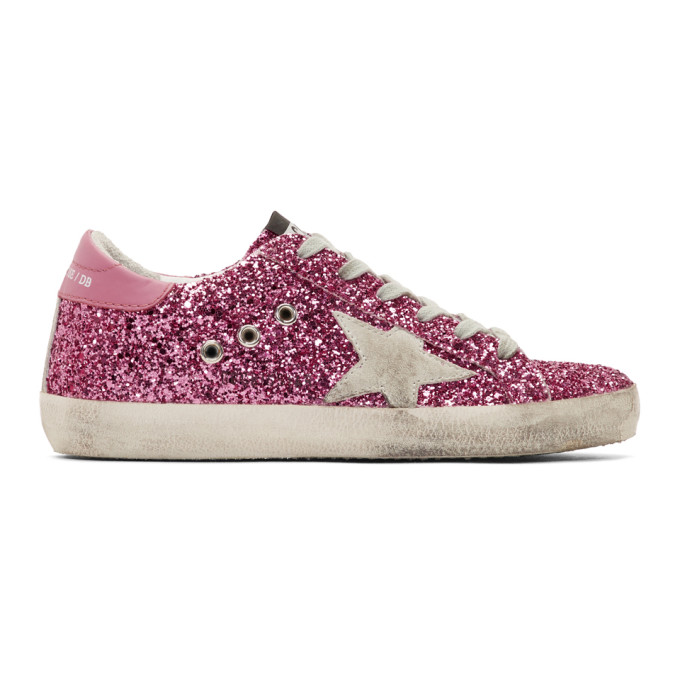 Golden Goose Pink Glitter Superstar Sneakers
