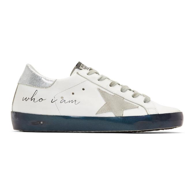 Golden Goose White Iridescent Sole Superstar Sneakers