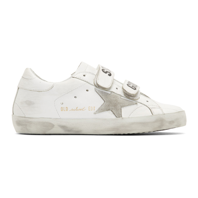 Golden Goose White Old School Superstar Sneaker