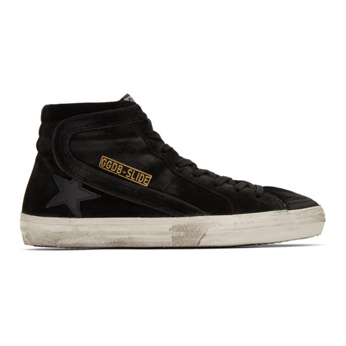 Image of Golden Goose Black Slide High-Top Sneakers