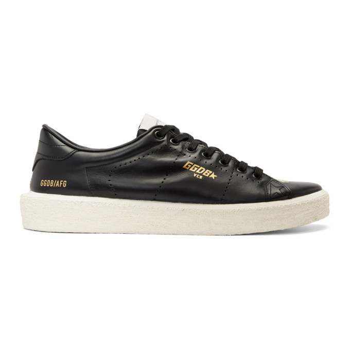 Golden Goose Black Vulcanized Tennis Sneakers