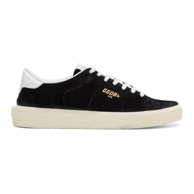 Golden Goose Black Suede Tennis Sneakers