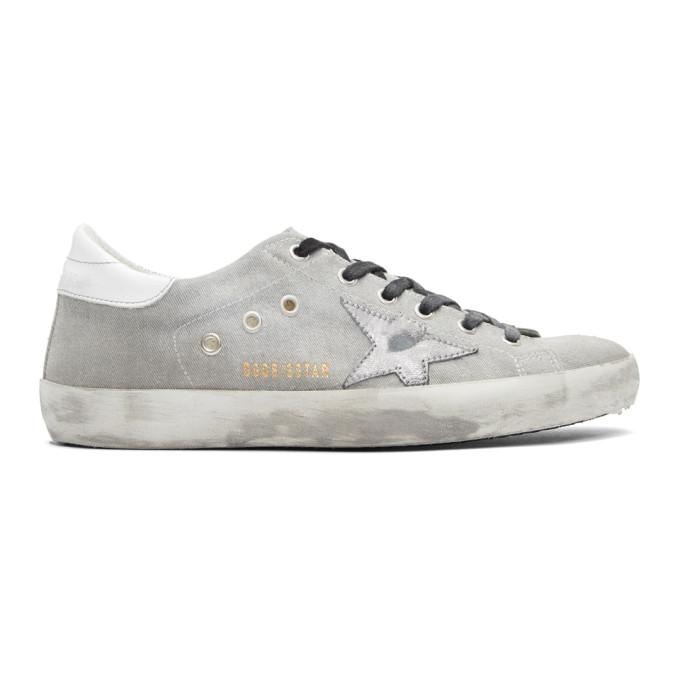 Golden Goose Grey Drill Superstar Sneakers