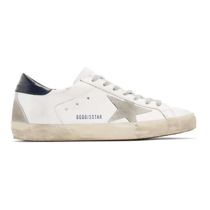 Golden Goose White & Grey Superstar Sneakers