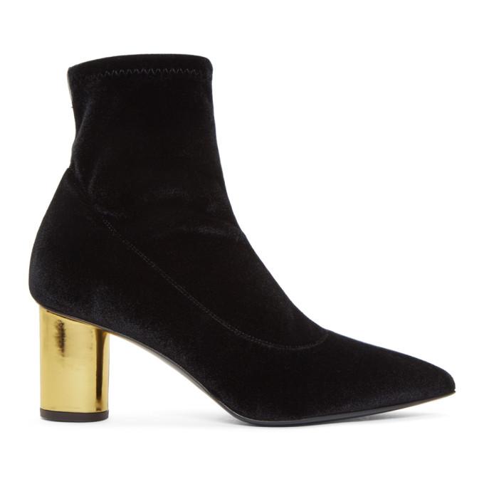 Giuseppe Zanotti Black Cordelia Velvet Ankle Boots