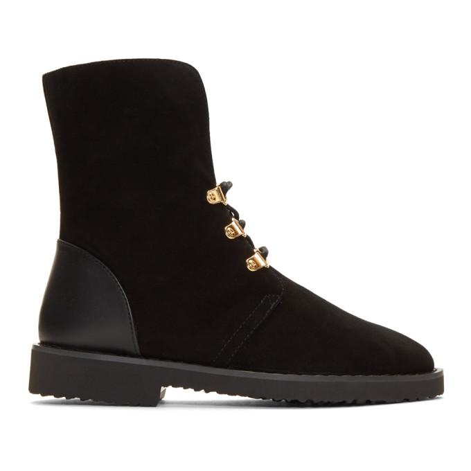 Giuseppe Zanotti Black Military Boots