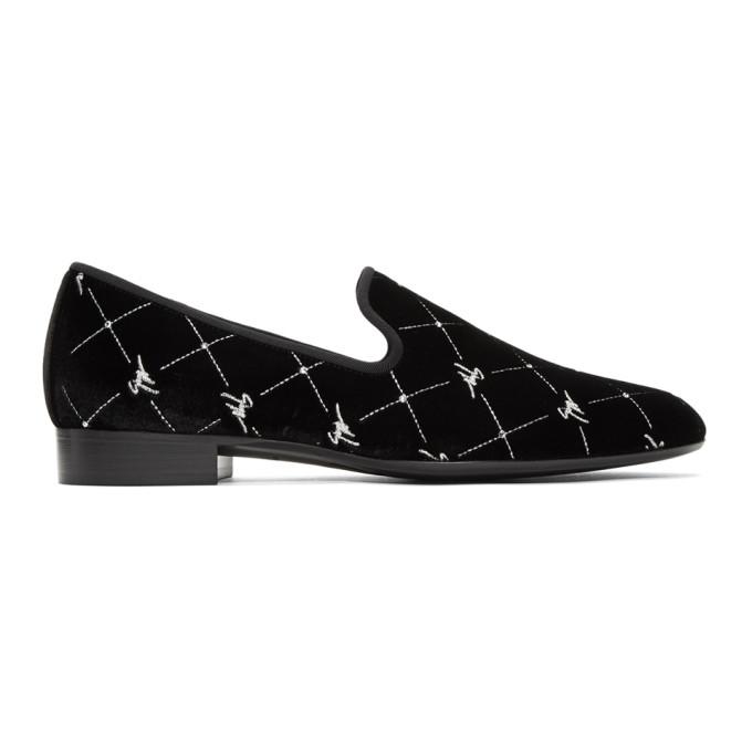 Giuseppe Zanotti Black Veronica Cut Loafers