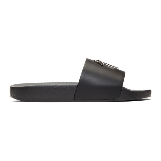 Image of Giuseppe Zanotti Black Burel Slides