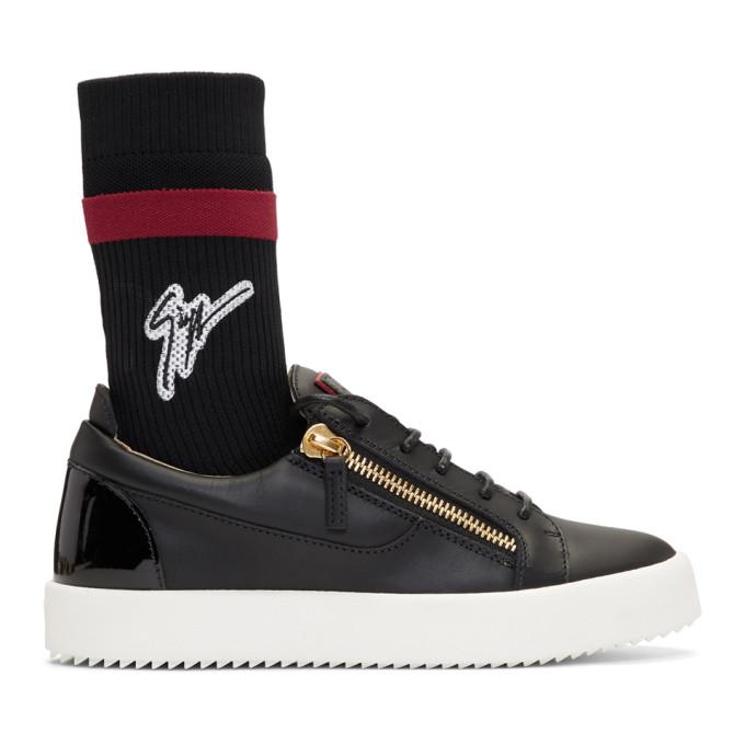 Giuseppe Zanotti Black May London Sock High-Top Sneakers