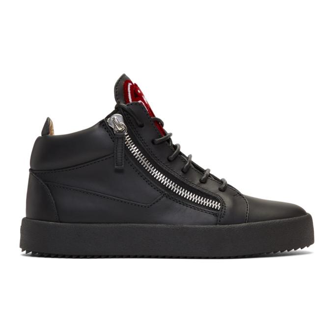 Giuseppe Zanotti Black May London High-Top Sneakers